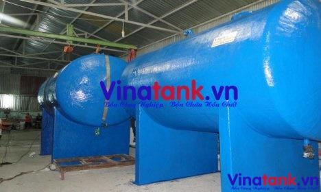 bồn composite frp nằm ngang, bể composite frp chứa hóa chất, bồn composite frp vinatank