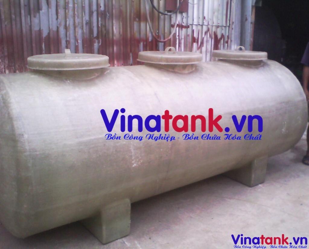 bồn composite trụ ngang, bon composite frp vinatank, frp tank
